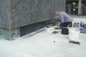Rund 75 Prozent des ursprünglichen Granitplattenmaterials konnte Steinmetz Martin Herberholz für die Sockelsanierung des Karl-Marx-Denkmals in Chemnitz wiederverwendenFotos: Gutjahr