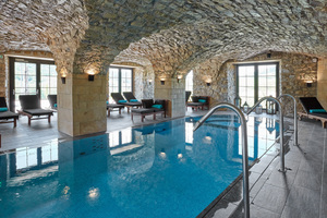 Der Wellnessbereich des Hotels Domaine de la Klauss, nach der Bauphase, seit Anfang 2016 für Besucher geöffnet