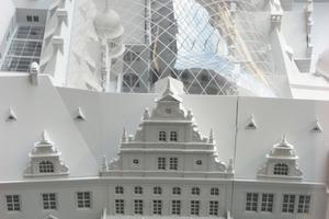 Modell des Membrandaches über dem kleinen Hof des Dresdener Residenzschlosses<br />