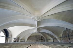 Fertig verputzte Rabitzkonstruktion im Bodemusem auf der Berliner Museumsinsel<br />