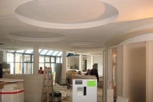 Ausführung der Trockenbauarbeiten auf der Baustelle der VR Bank in Landau<br />
