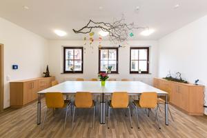 Außen historisch, innen modern: So sieht es im Fachwerkhaus in Halberstadt nach Abschluss der Sanie- rungsarbeiten aus Foto: Knauf Aquapanel