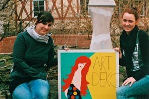 """Eine gelungene Arbeit von zwei Seminarteilnehmerinnen zum Thema """"Art Deco""""<br />"""