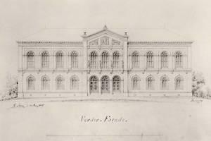 Historischer Fassadenaufriss von 1849 nach Lüder Rutenberg<br />