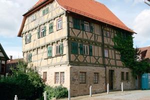 Der 1688 in Marbach erbaute Heinlinsche Hof ist das einzige Gebäude der Stadt, das den verheerenden Brand Ende des 17. Jahrhunderts überstanden hat<br />