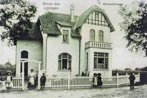 Historische Aufnahme der Villa Kösters in Löningen um 1907 Foto: Archiv Remmers