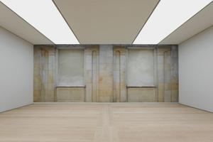 Übergang Anbau zum Altbau. Die historische Sandsteinfassade wird zur Innenwand<br />