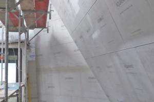 """Aquapanel Cement Board Outdoor kann auch für ungewöhnliche Geometrien einfach per Ritzen und Brechen in Form gebracht werden<span class=""""bildnachweis"""">Fotos (3): Wortmann / KKW Architekten</span>"""
