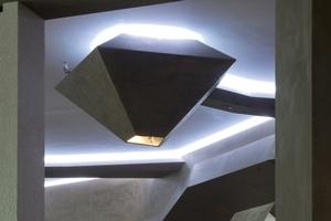 Detail der Deckengestaltung in H´ugo´s Restaurant Lounge und Bar in Stuttgart<br />