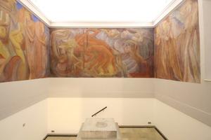 Expressionistische Malerei im Treppenhaus des Museums<br />