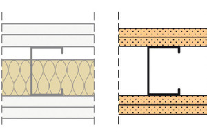 Trennwand F120 beziehungsweise El90<br />2 x 15 mm GKF + 60 mm/50 kg/m<sup>3</sup> Mineralfaser<br />2 x 12,5 mm Firepanel A1 ohne Dämmstoff<br />