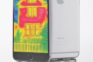 Mit der Flir One gibt es ein preisgünstiges Modul für rund 270 Euro, das ein iPhone oder Android-Smartphone in eine Wärmebildkamera verwandelt