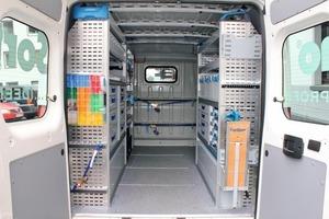 Blick in den mit dem Sortimo Globelyst M System ausgestatteten Testwagen