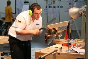 Eine Bronzemedaille ging für Deutschland an den Zimmerer Andreas Fichter