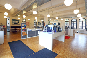 """Im Erdgeschoss des Lichtenthäler-Hauses ist mittlerweile der Kaffee-Vollautomaten-Händler """"bonOffice"""" eingezogen<span class=""""bildnachweis"""">Foto: Thomas Lammertz</span>"""