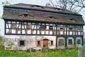 Das Stellmacherhaus an seinem ursprünglichen Standort in Wigancice Żytawskie