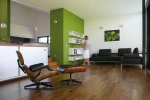 Auch die Möbel stammen aus der Feder des Architekten<br />