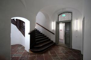 Treppenausgang im Erdgeschoss