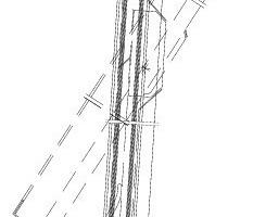 Schnitt durch eines der schräg montierten Metallfenster<br />Zeichnung: Schüco<br />