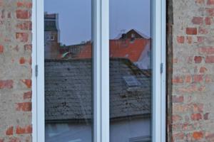 Montiertes Fenster von außen