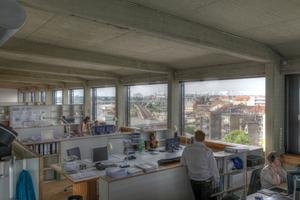 Blick in das Architekturbüro von Peter Schmucker