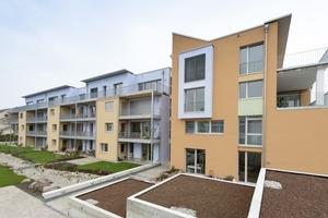 Das für 18 Familien in Kassel erbaute Passivhaus nach der Fertigstellung