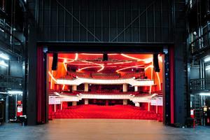 Blick von der Bühne aus in den Theatersaal<br />