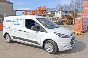 Der Testwagen: Der Ford Transit Connect mit langem Radstand wird angetrieben von einem 1,6-Liter-TDCI-Turbodiesel mit 70 kW<br />Fotos: Olaf Meier