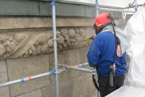 Fassadenreinigung im Strahlverfahren