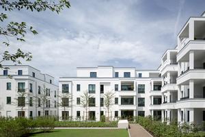 Der Stil der Wohnbauten um den Düsseldorfer Belsenpark herum passt sich mit seinen klaren Formen dem klassischen Villenstil an<br />Foto: Yohan Zerdoun / ksg