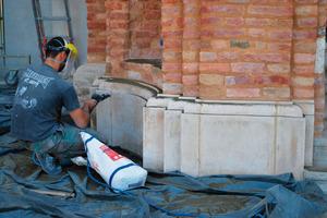 Das rotec-Wirbelstrahlverfahren von Remmers ist ein Reinigungsverfahren mit einer großen Flächenleistung<br />Foto: Remmers<br />