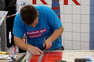 Die Silbermedaille ging bei den Fliesen-, Platten- und Mosaiklegern an Domenic Niedermeier