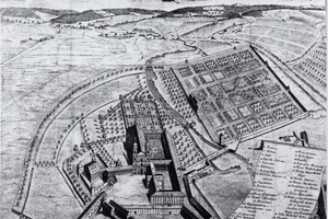 Historischer Stich: So hatten sich die Erbauer des Klosters um 1700 einst die Anlage vorgestellt<br />