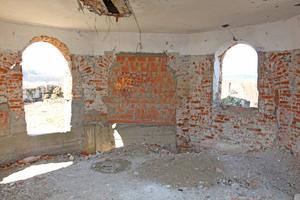 Der Pavillon (Erdgeschoss) vor Beginn der Baumaßnahmen. Hier sieht man gut, dass nicht mehr alle bauseitigen Fensteröffnungen vorhanden sind