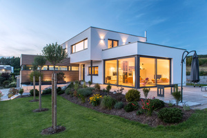 Massiv und ohne WDVS hat Firma Reger dieses Haus gebaut, das die KfW Effizienzhaus 55 Anforderungen erfüllt Foto: Ytong/Holger Krull<br />