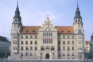 Die Hauptfassade des Landgerichts Halle wurde bereits 2003/2004 restauriert