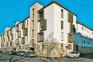 Die Stadtbau Würzburg GmbH wurde für die Sanierung eines Quartiers aus den 1950er Jahren In Würzburg-Sanderau ausgezeichnet<br /><br />