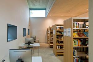Auch die Außenwände der neu errichteten Bibliothek erhielten eine mineralische Innendämmung