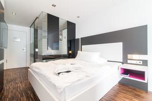 Blick in eines der Zimmer im Hotel Schloss Montabaur