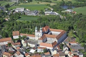 Luftaufnahme der Klosteranlage<br />