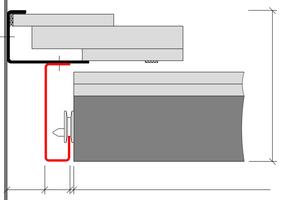Detailschnitt Wandanschluss Brandschutzdecke