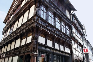 Das sanierte Eickesche Haus in Einbeck entstand 1612 im Stil der Weserrenaissance und gehört heute zu den schönsten Fachwerkhäusern Niedersachsens<br />
