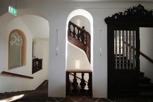 Blick zur Treppe im Obergeschoss