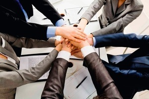 Daneben: Die Verbundgruppen-Struktur stärkt kleine Handwerksbetriebe im Wettbewerb mit großen Konzernen und Systemanbietern<br />