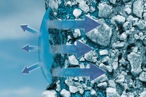 Putzoberflächen mit AquaBalance-Technologie dehnen die Wassertropfen und vergrößern so die Verdunstungsfläche