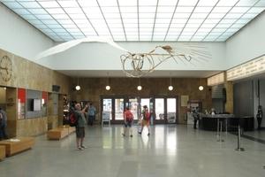 Eingangshalle mit einem Modell des Normalseglers von Otto von Lilienthal<br />