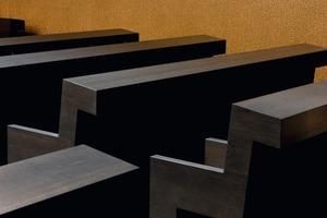 Das Ergebnis: ein Meer aus Zeichen und Buchstaben an den Wänden des Gottesdienstraums<br />