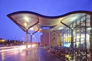 Der Eingang der Bahnhofspassagen in Potsdam bei Nacht. Der Boden in den Gängen wurde in diesem Jahr erneuert Fotos: Sopro Bauchemie