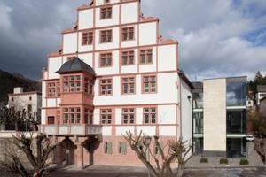 Rheinseite des Hilchenhauses (Südseite)<br />