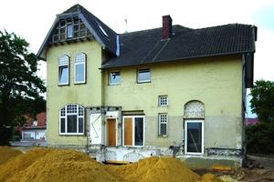 Die Villa Köstes vor Beginn der Sanierungs- und Restaurierungsarbeiten<br />
